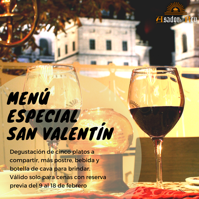 Cena especial de San Valentín en el Asador del Rey