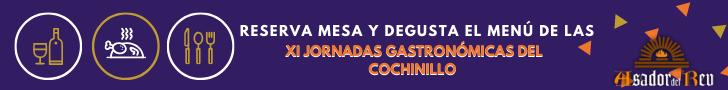 Banner - Reserva mesa XI Jornadas Gastronómicas del Cochinillo
